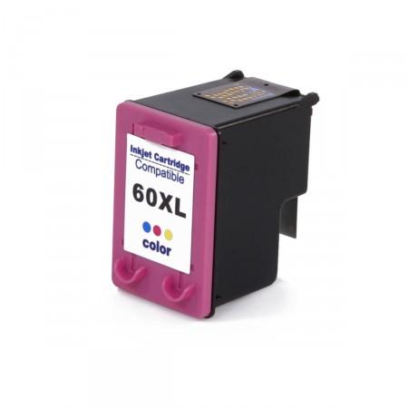 Cartucho de Tinta compatível HP 60XL Colorido CC644WB D1660 D2560 F4580 F4280 C4680 C4780 MP