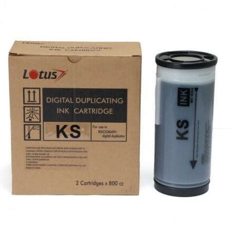 Tinta Compatível p/ Duplicador RISO 800ml Preto KS500 KS600 KS800 Lotus Unid.
