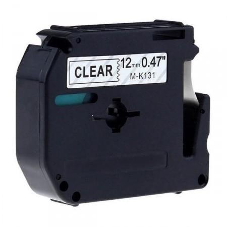 Fita Compatível G&G M-131 12mm Preto/Transparente p/ Brother