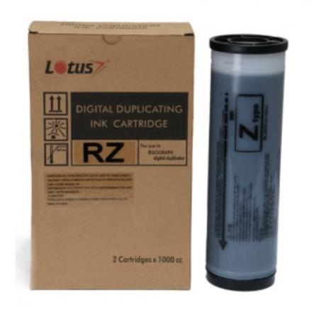 Cartucho de tinta Compatível p/ Duplicadora Ricoh RZ 1000ml Preto Lotus Und