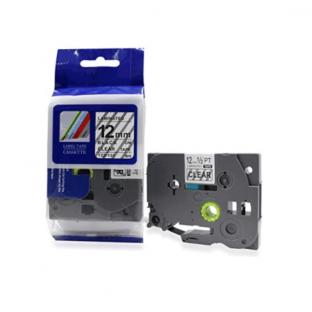 Fita Compatível G&G TZE-131 12mm Preto/Transparente p/ Brother