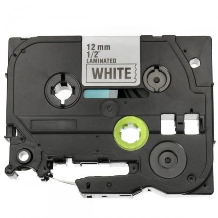 Fita Compatível TZE-FX231 G&G Flexível Brother 12mm Preto/Branco