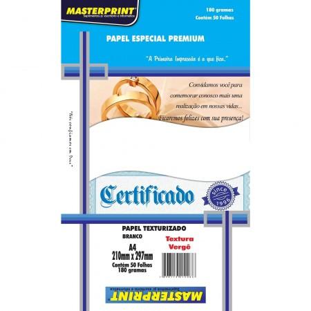 Papel Especial Verge A4 180G Master Print 50 Folhas