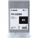 Cartucho de Tinta PFI 030 BK Preto para Canon IPF