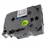 Fita Industrial TZE-S231 12mm Preto/Branco p/ Rotulador Brother