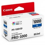 Cartucho de Tinta Canon PFI 1000 B Azul 80ml