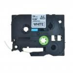 Fita TZE 251 24mm Preto/Branco p/ Rotulador Brother