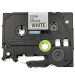 Fita Flexivel TZE-FX231 12mm Preto/Branco p/ Rotulador Brother